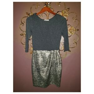 Le Lis Foiled Hemsaw Dress